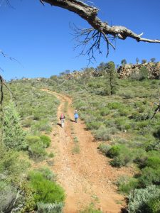 Walking in horsehoe range