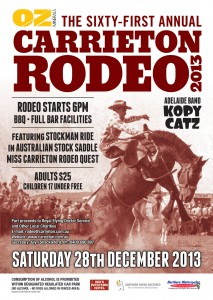 61st Carrieton Rodeo Poster
